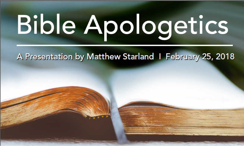 Bible Apologetics